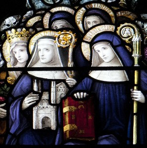 Saint Scholastica and Sainted Abbesses - photo by Fr. Lawrence Lew, O.P.