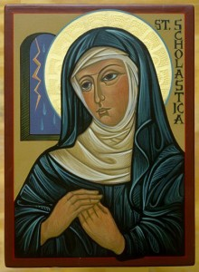 St.-Scholastica-Icon-by-SrMCM-5x4